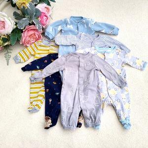 Newborn Boy Bundle of footie sleepers